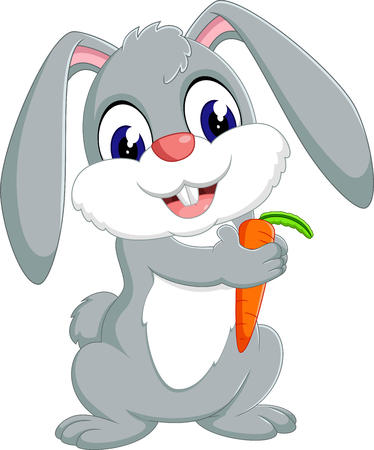illustration of cute rabbit cartoon
