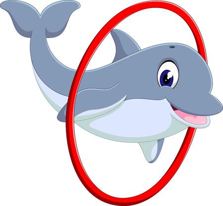 kiddish: illustration of cute dolphin cartoon