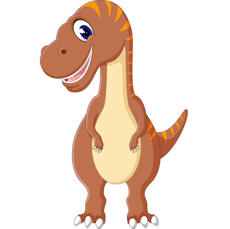 tyrannosaurs: illustration of cute dinosurs cartoon Stock Photo