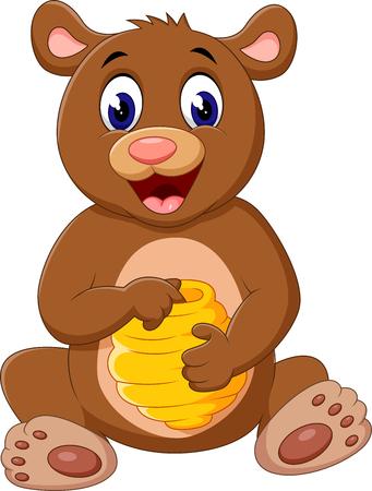 cute cartoon: illustration of Cute bear cartoon
