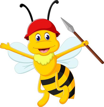 cute bee: illustration of Cute bee cartoon