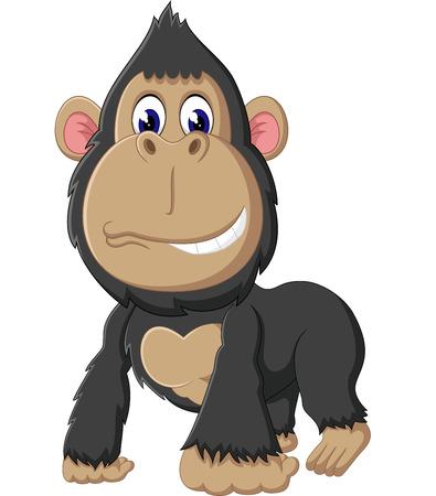 gorilla cartoon of illustration