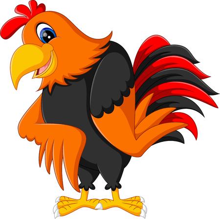 animal cock: Carino gallo cartone animato presentazione