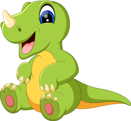 dinosaur cute: illustration of cute dinosaurus cartoon