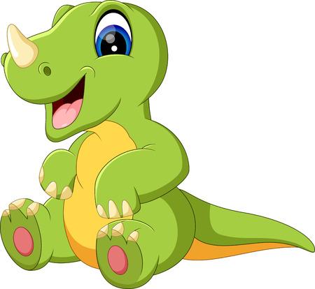 cute dinosaur: illustration of cute dinosaurus cartoon