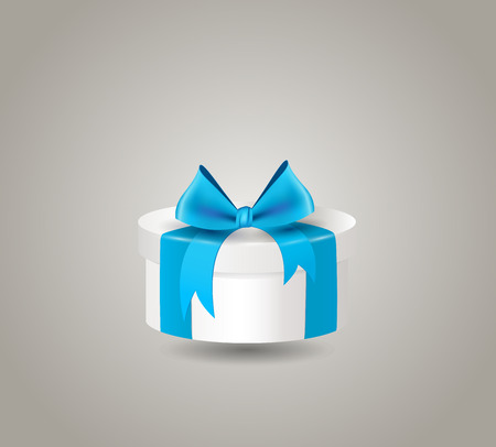 x mas background: Gift box with ribbon bow
