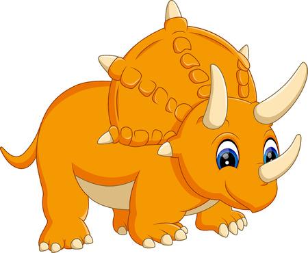 triceratops: illustration of cute Triceratops cartoon