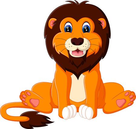 ilustración de dibujos animados lindo bebé león