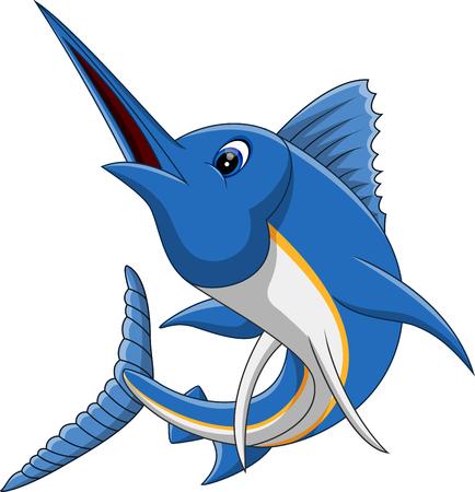 smile icon: illustration of marlin fish cartoon