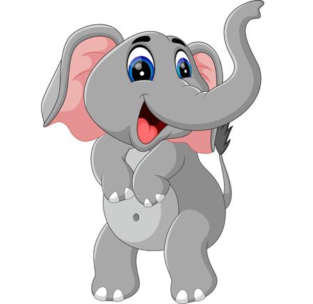 tusks: ilustration of Cute elephant cartoon Illustration