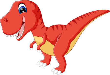 tyrannosaurs: illustration of cute dinosaurs cartoon