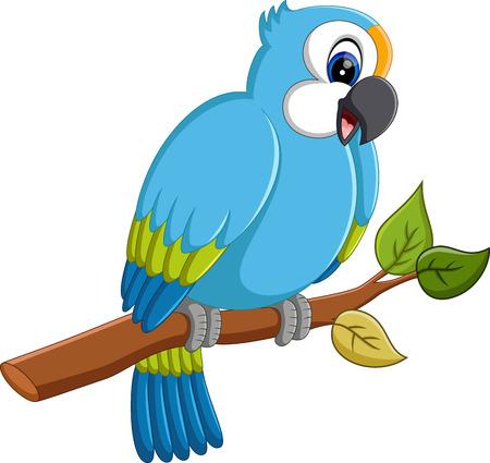 guacamaya caricatura: ilustración de dibujos animados de vuelo de guacamayos Vectores