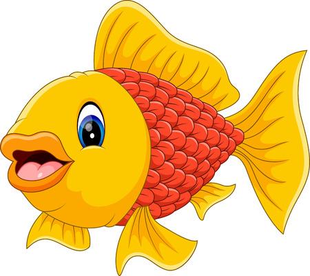 illustration of cute fish cartoon