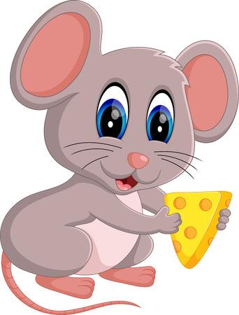 cute cartoon: illustration of Cute mouse cartoon