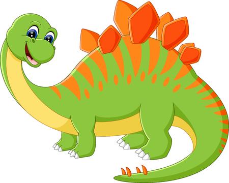 dinosaurio caricatura: ilustraci�n de dibujos animados lindo del dinosaurio