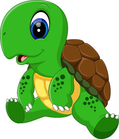 illustration of Cute turtle cartoon