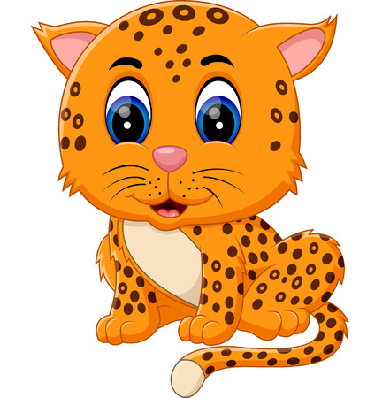 cartoon king: illustration of cute baby tiger
