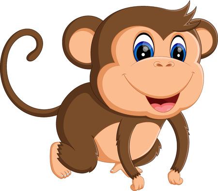 thumping: illustration of Cartoon monkey Illustration