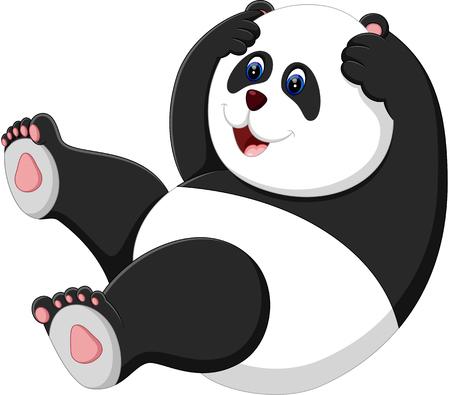 ilustración de la historieta de la panda linda del bebé Ilustración de vector
