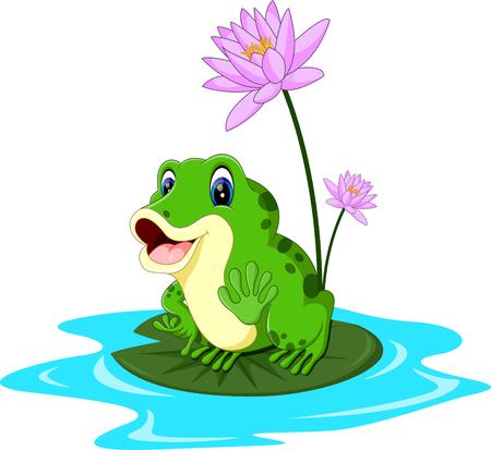 Cartoon cute frog of illustration 일러스트