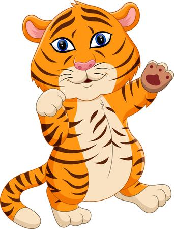 tigre bebe: ilustraci�n de dibujos animados tigre de beb� lindo