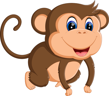 thumping: illustration of Cartoon monkey Stock Photo