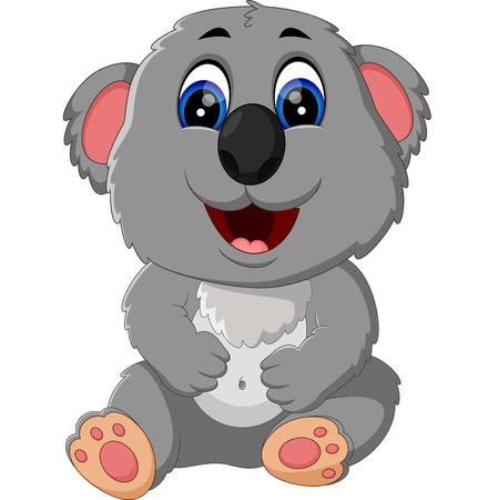 illustration of cute koala cartoon