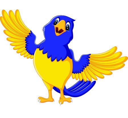 macaw: illustration of Cartoon macaw smile Illustration