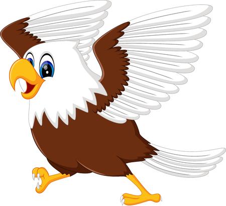 illustration of cute eagle cartoon Ilustração
