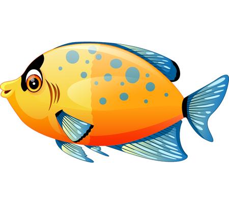 cute cartoon: illustration of Cute fish cartoon