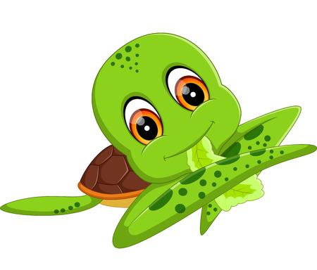 cute cartoon: illustration of Cute turtle cartoon