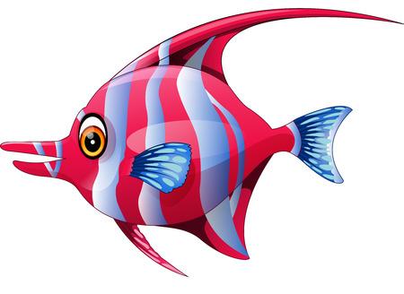 suave: illustration of Cute fish cartoon