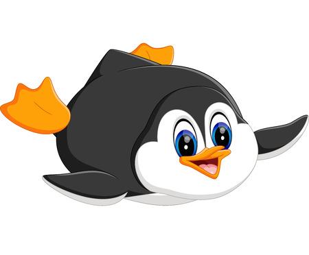 cute cartoon: illustration of cute penguin cartoon