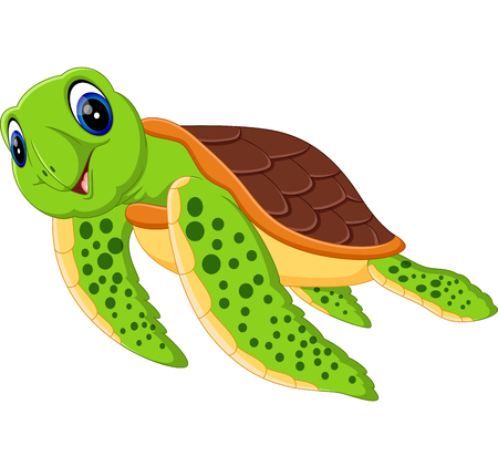 illustration of Cute turtle caroon