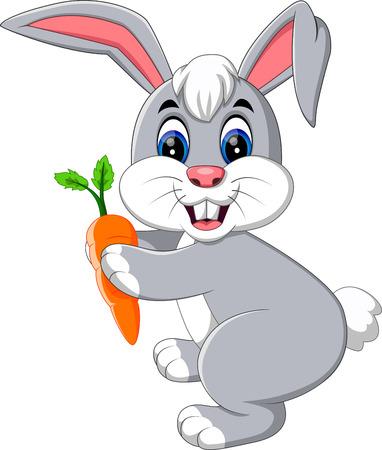 hamper: illustration of cute rabbit cartoon