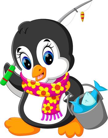 illustration of cute penguin cartoon
