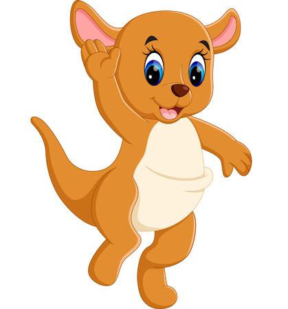 wallaby: illustration of Cute baby kangaroo cartoon