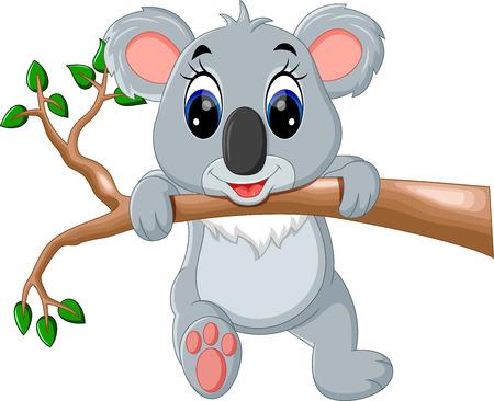 Netter Koala-Cartoon Standard-Bild - 56487943