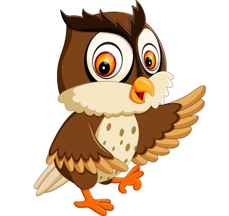 illustratie van leuke uil cartoon Stockfoto