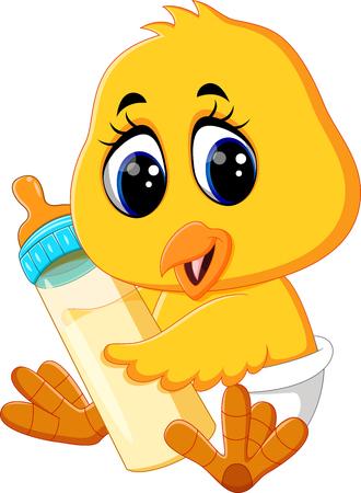 squeak: illustration of Cute chicken cartoon