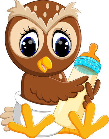 illustration of cute owl cartoon