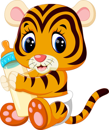 tigre bebe: ilustraci�n de tigre lindo beb� Vectores