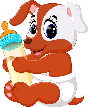 illustration of cute dog cartoon Stock Illustratie