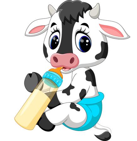 moo: Cute baby cow cartoon