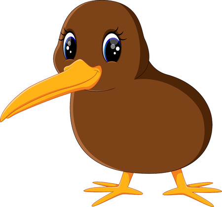 Illustration of a close up kiwi bird Illustration