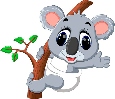 Cute koala cartoon Stock Vector - 58513803