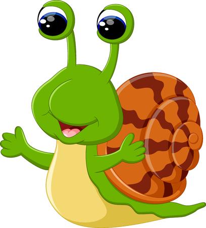 dna smile: Funny snail cartoon