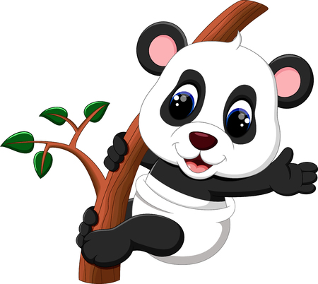 Illustration von niedlichen Baby-Panda-Cartoon