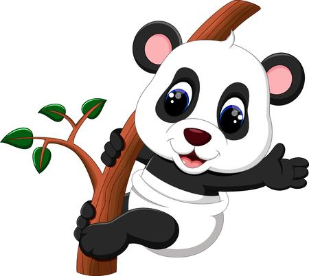 ilustración de la historieta de la panda linda del bebé