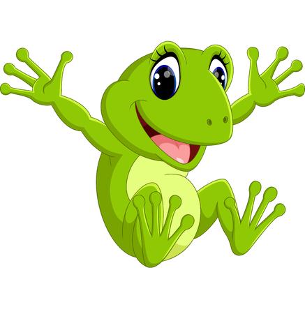 bullfrog: Cute frog cartoon